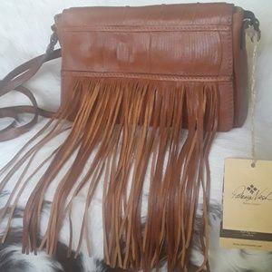 Patricia Nash Fringe leather crossbody bag